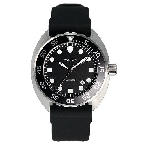 Pantor Nautilus Quartz Edition 200M Mens Dive Watch With Black Bezel