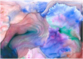Breeze - wtercolour and crylic on paper in a series of paintings relating to meteorology and the environment