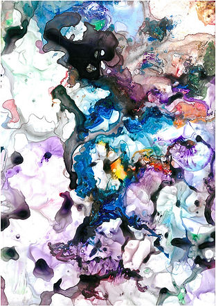 Rockpool - watercolour and acrylic on paper in a series of environmental paintings
