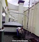 компания СпецВодоКанал проводит работы по гидродинамической промывке ливневой канализации с крыши здания; очистке решеток ливневой канализации.