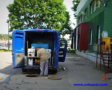 Гидродинамическая прочистка канализации каналоочистительной машиной