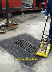 Ремонт колодца ливневой канализации, замена решетки, восстановление асфальтобетонного покрытия