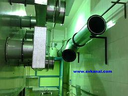 Очистка промышленной вентиляции с частичным демонтажом воздуховодов