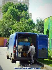 Компания СпецВодоКанал проводит работы по гидродинамической очистке канализации каналоочистительной машиной, работы по очистке колодцев канализции.
