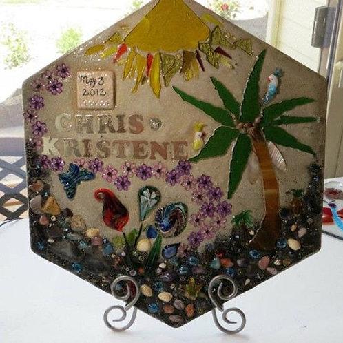 Hawaiian Themed Personalized Garden Stone