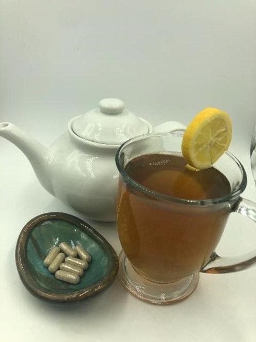 Digestive Tea Blend & Slippery Elm Capsules
