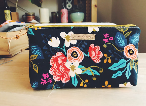 Vintage Floral Oil Bag- Grellow Zipper