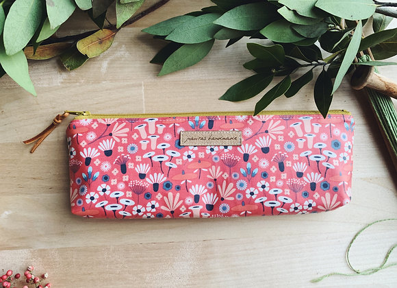 Blooms Notions Pouch- Grellow Zipper