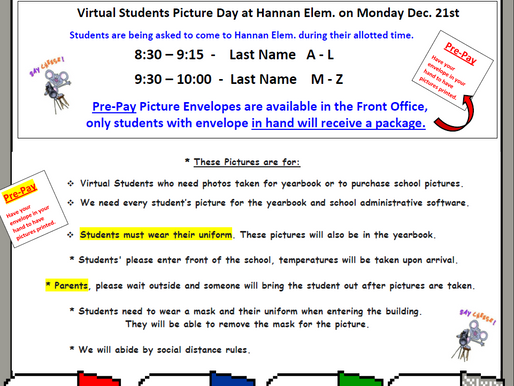 Picture Day for Virtual Students