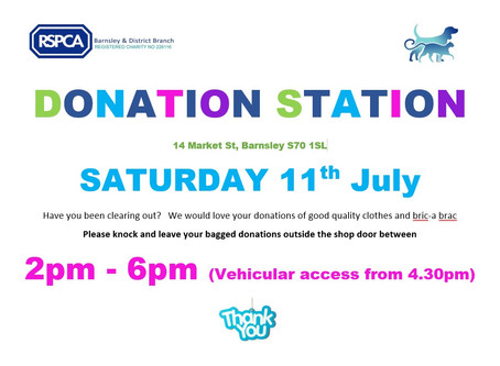 Donation Station to be held at Market Street Shop