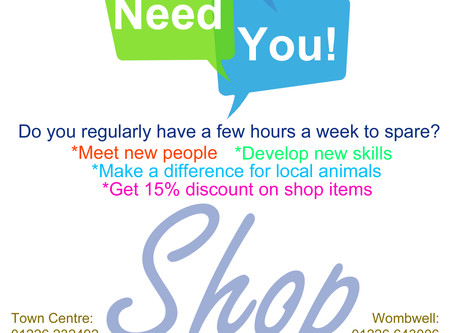 Volunteers Needed urgently at Market St Charity Shop, Barnsley.