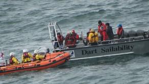 Dart Sailability training exercise with Dart RNLI & Forward Point NCI