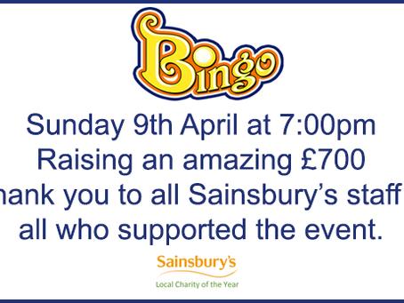 Sainsbury's Dartmouth  Bingo Night