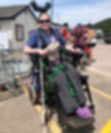 wheelchair member steph just back from sailing