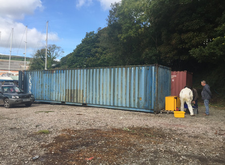 Our new storage container has arrived