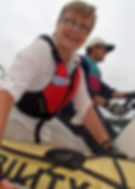 Volunteer enjoying life at dart sailability