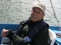 Disabled sailor in hansa dinghy