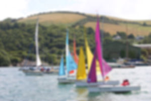 hansa dinghies racing at dart sailability