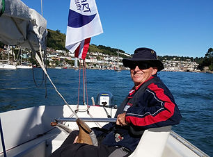 Disabled sailor at the helm