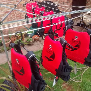 DS buoyancy aids drying