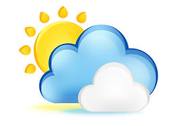 Weather icon image with link to weather page