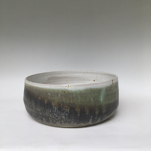 Stoneware Green/Grey Bowl