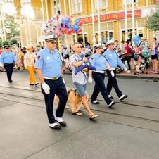 Brinkley & Mark in the Disney Parade