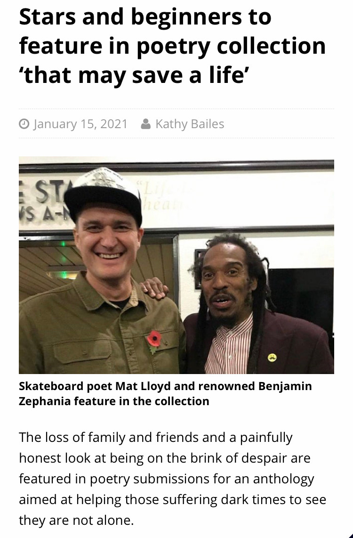 Poets Mat Lloyd and Benjamin Zephania