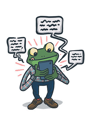 Textin frog. But what is is textin?