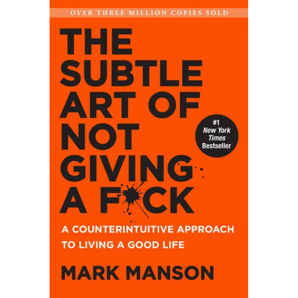Mark Manson's book cover 'The Subtle Art of Not giving a fuck'
