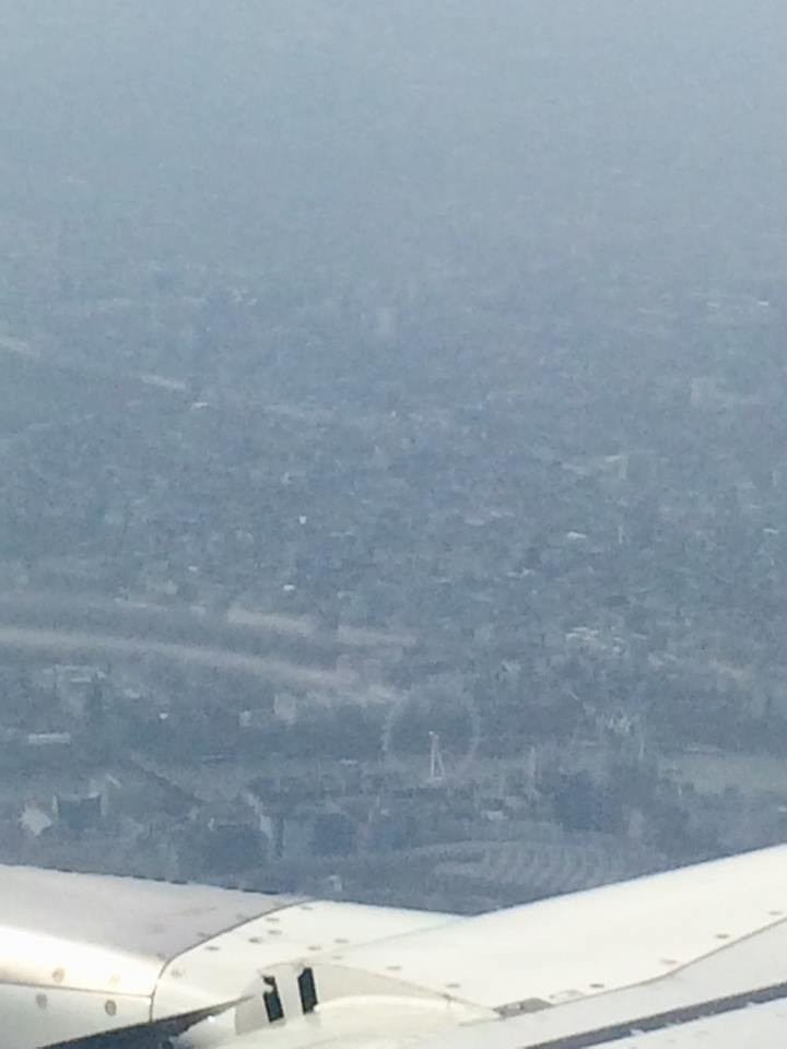 London view from a plane