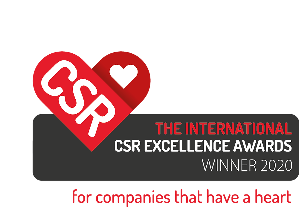 The international csr excellence awards, winner 2020, for companies that have a heart