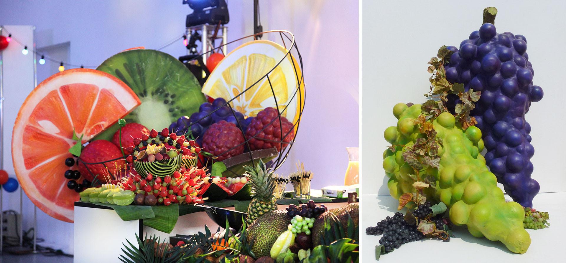 Früchte Großplastik