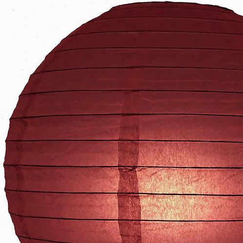Papierlaterne, rot, burgund