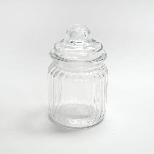 Glasdose, gemustert, Vintage