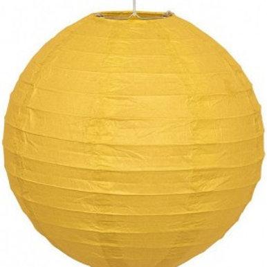 Papierlaterne gelb