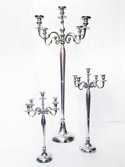 Kerzenständer Metall 3 Größen silber Miete Dresden
