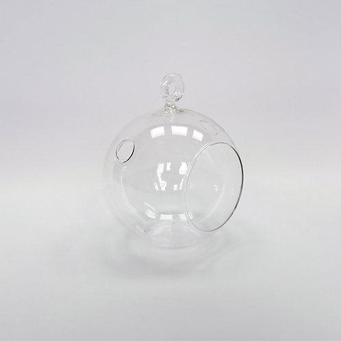 Kugelvase/ Glaskugel für Teelicht mit Aufhänger