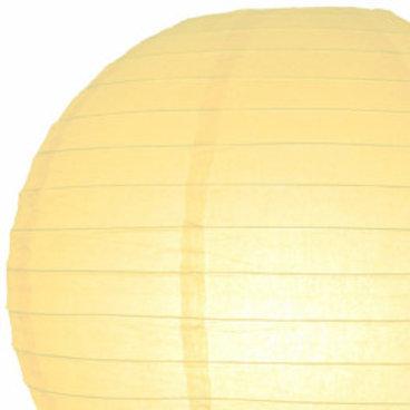 Papierlaterne gelb, ivory