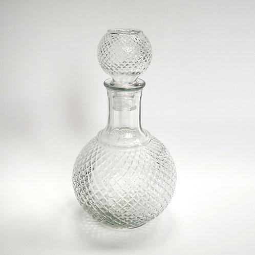 Glasflacon, gemustert, Vintage