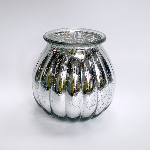Glaswindlicht, gemustert, Vintage,Silber