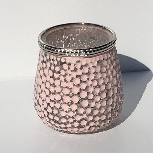Glaswindlicht, gedellt, Rosé/Silber