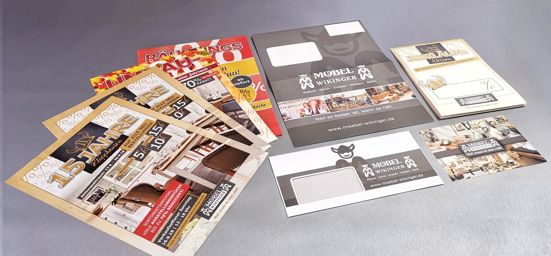 Möbelgeschäft Printprodukte