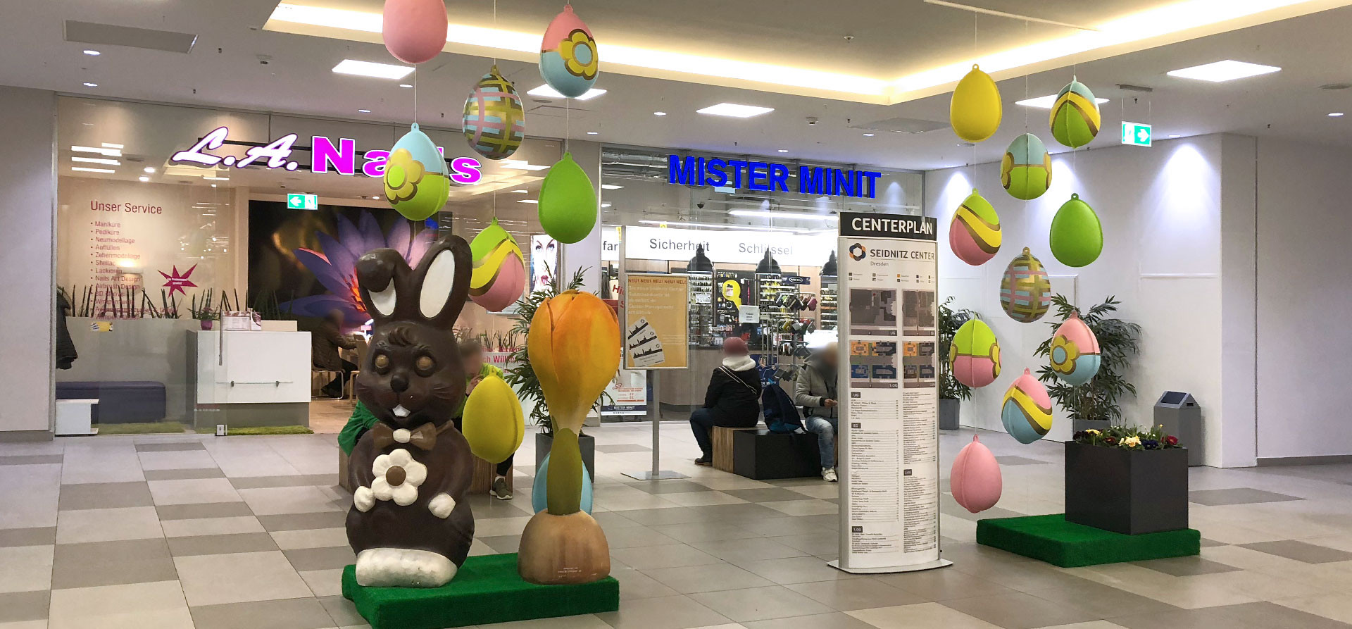 Einkaufscenter Dekoration Ostern