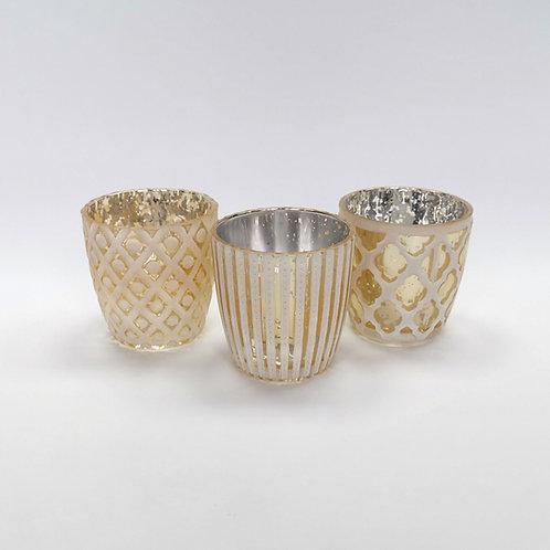 Windlich, gemustert, Gold/Weiß