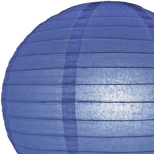 Papierlaterne blau