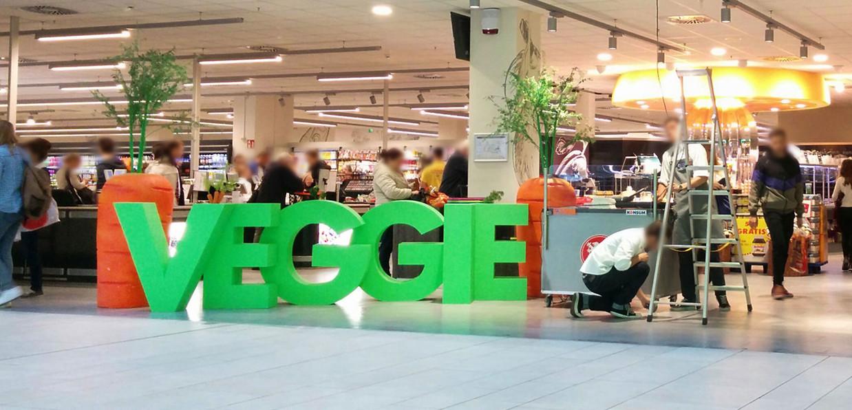 Einkaufscenter Dekoration Veggie