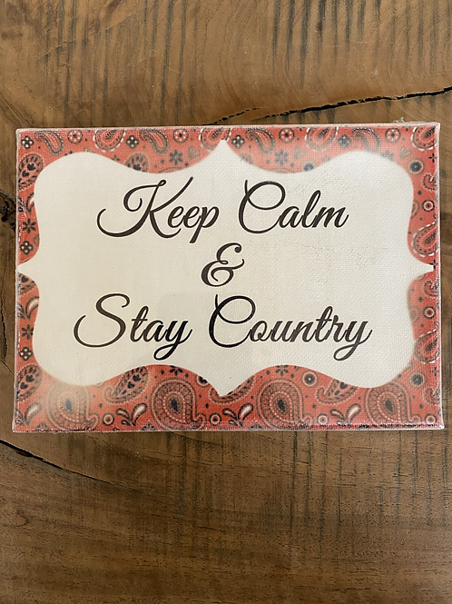 Small Keep Calm & Stay Country