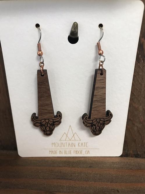 Cow dangle earrings