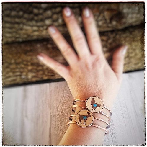 Goat cuff bracelet